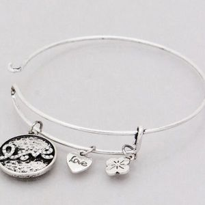 Jewelry - 4 for $25 love charm bangle